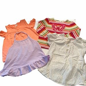 Girls Tanks and Tees Bundle of 4 Items Size 5T